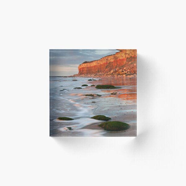 Hunstanton cliffs at Sunset, Norfolk Acrylic Block