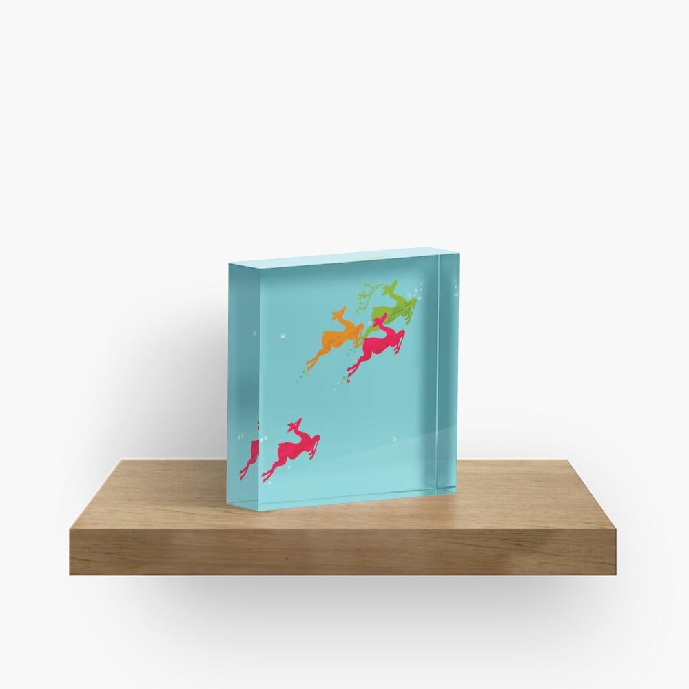 Winer Deer Acrylic Block