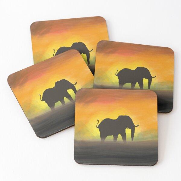 African Elephant Coasters (Set of 4)