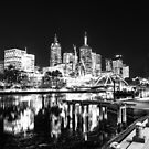 Melbourne reflected skyline by Andrew Wilson