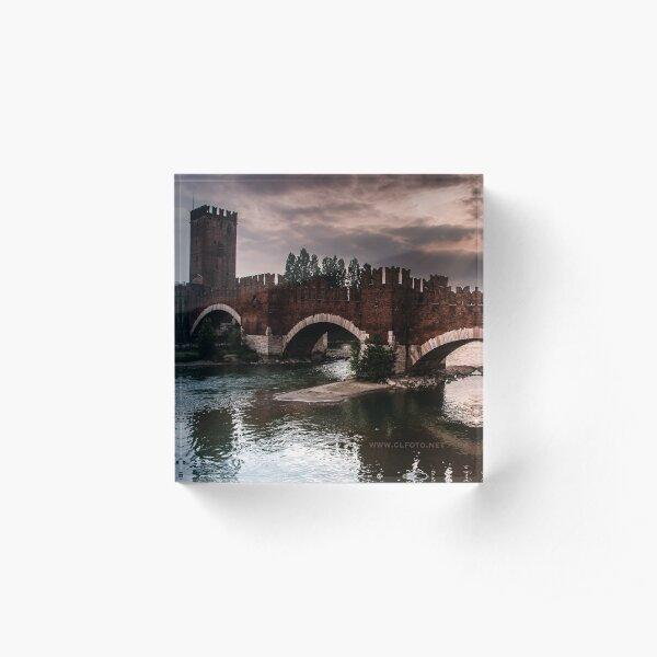 Castlevecchio Bridge, Verona, Italy Acrylic Block