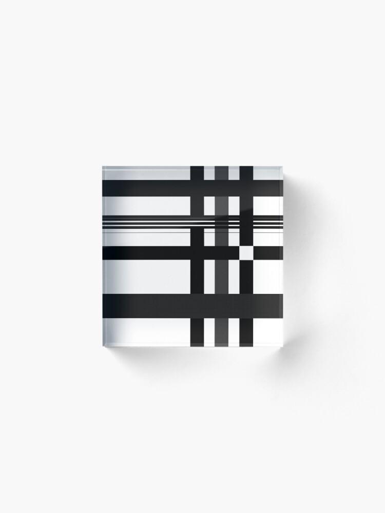 Alternate view of Black n' White plaid Acrylic Block