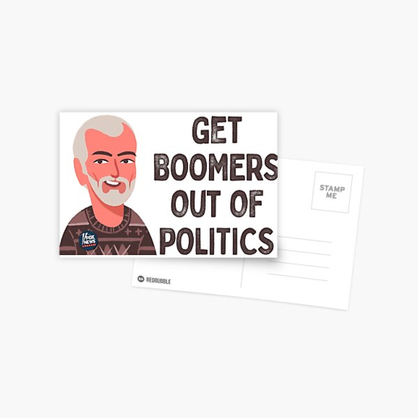 Get Boomers Out of Politics Postcard