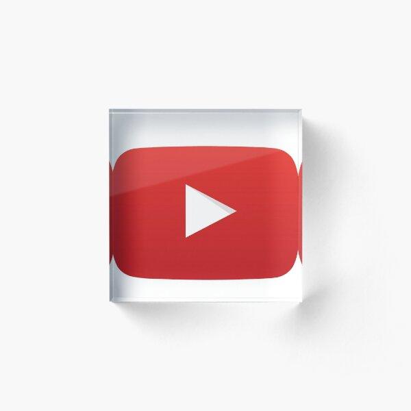 Youtube Play Button Acrylic Block