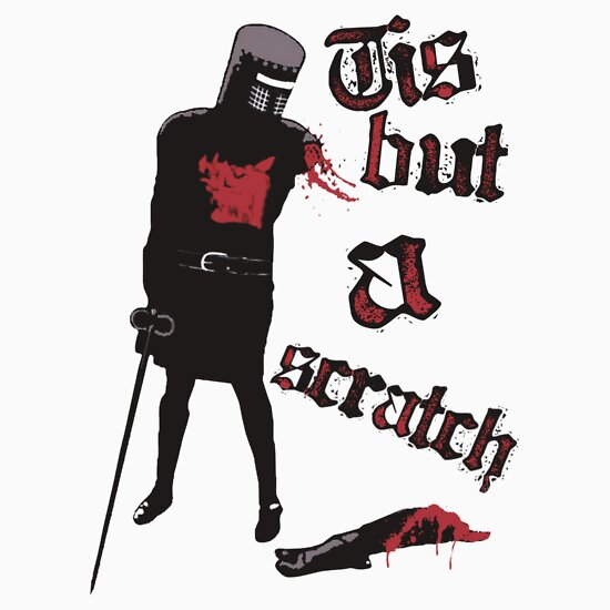 TShirtGifter presents: Tis but a scratch - Monty Python's - Black Knight