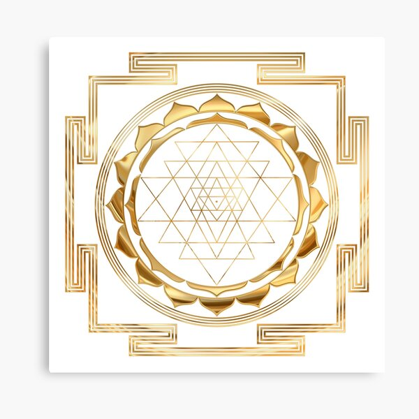 Shree Yantra Sacred Geometry Art Canvas Print