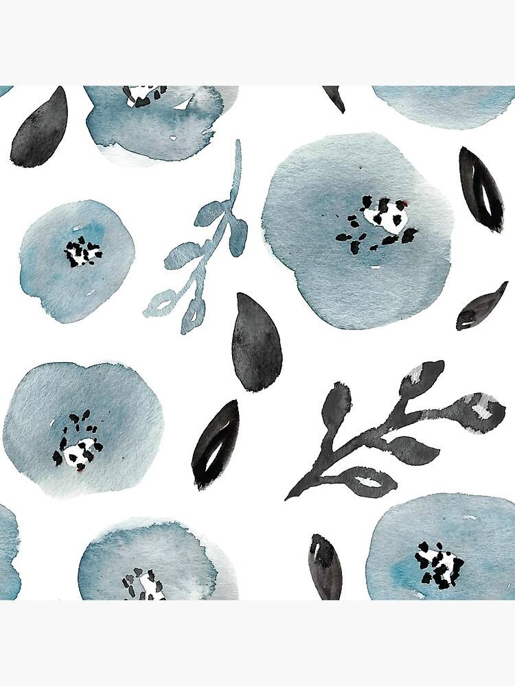 Grey Floral Pattern de cranberrydesign