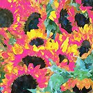 Pink Sunflowers #malerei #natur #digitalart von 83oranges