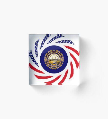 New Hampshire Murican Patriot Flag Series Acrylic Block