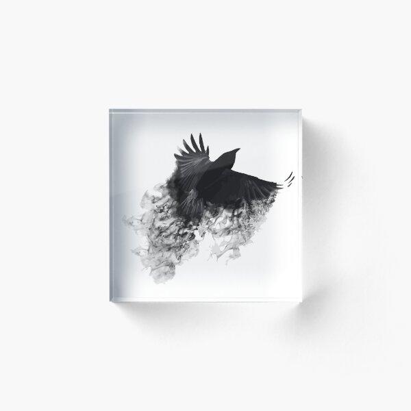 The Black Crow Acrylic Block