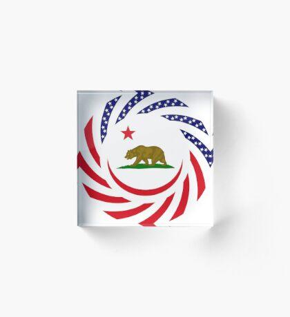 Californian Murican Patriot Flag Series Acrylic Block