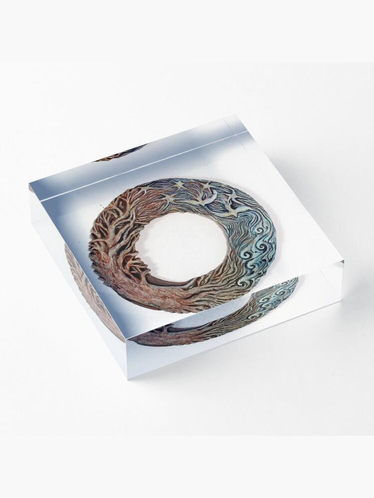 Alternate view of Mandala Solstice Wreath Acrylic Block