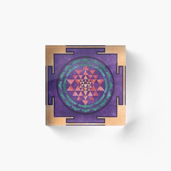 Sri Yantra 02 Acrylic Block
