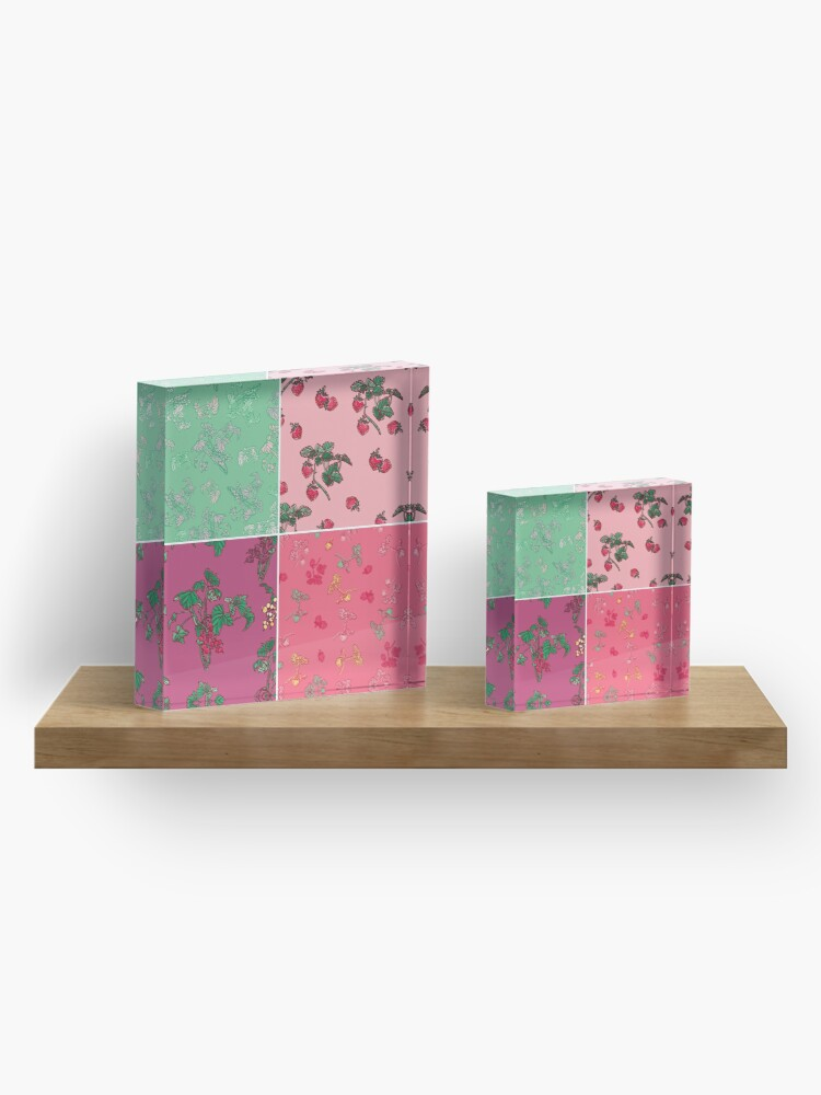 Alternate view of Decorative Berries Pattern Collection Acrylic Block