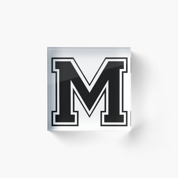Letter - M (black) Acrylic Block