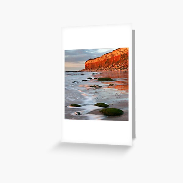 Hunstanton cliffs at Sunset, Norfolk Greeting Card