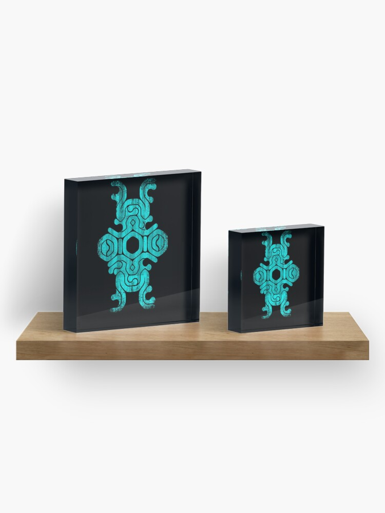 """Alternate view of Shadow of the Colossus """"Sigil Mark"""" Colossus weak point Acrylic Block"""