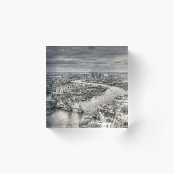 London from Above Acrylic Block