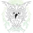 Custom Tattoo Design 2015 Owl by Junior Mclean