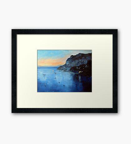 Evening moorings Framed Print