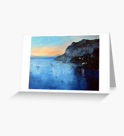 Evening moorings Greeting Card