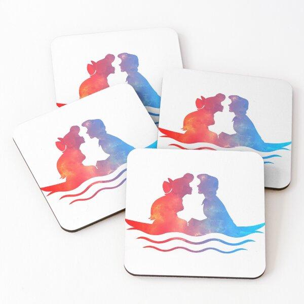 Boat Ride Kiss Coasters (Set of 4)