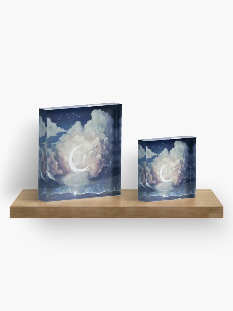 Alternate view of upon the sky-foam. Acrylic Block
