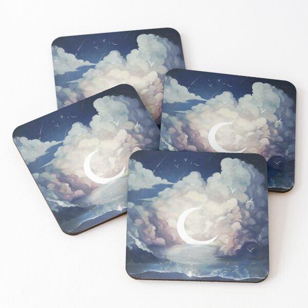upon the sky-foam. Coasters (Set of 4)