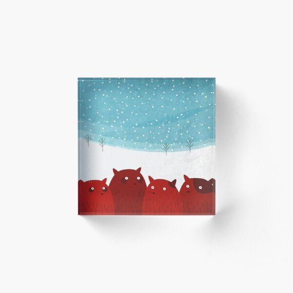 Rodent family picture Acrylic Block