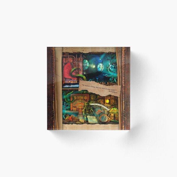 The Curious Library Calendar - July Acrylic Block