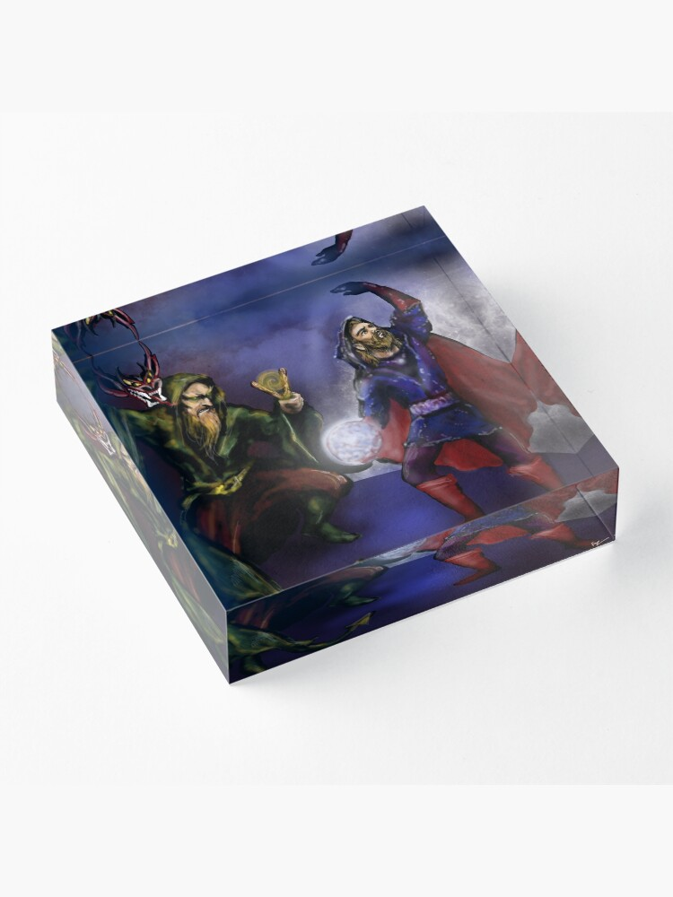 Alternate view of wizards at battle Acrylic Block