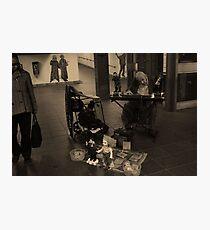 Old Man Entertaining  Photographic Print
