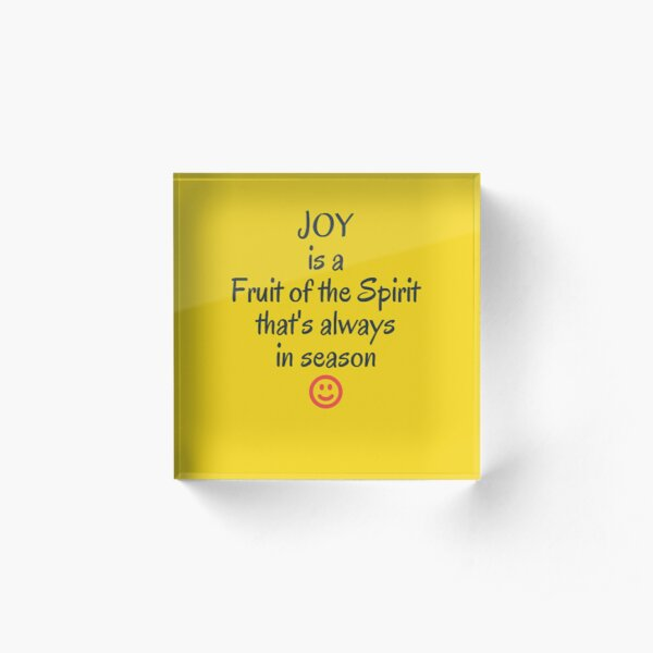 Joy in all season Acrylic Block