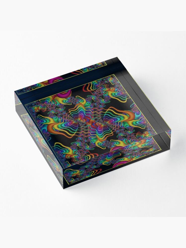Alternate view of The Vibrations Shawl Acrylic Block