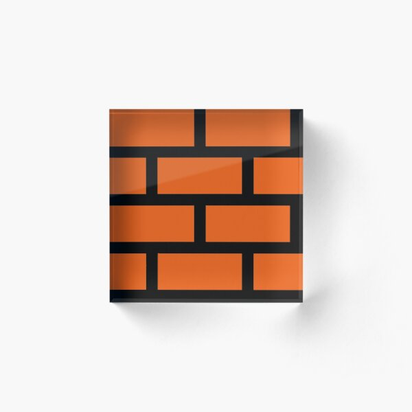 Brick Smash Acrylic Block