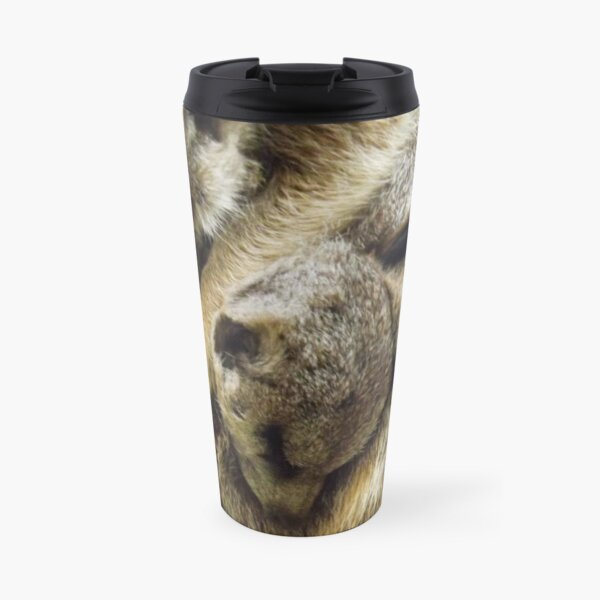 Pile of Baby Meerkats Sleeping Travel Mug