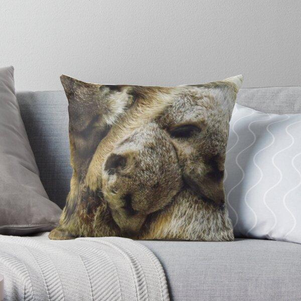 Pile of Baby Meerkats Sleeping Throw Pillow