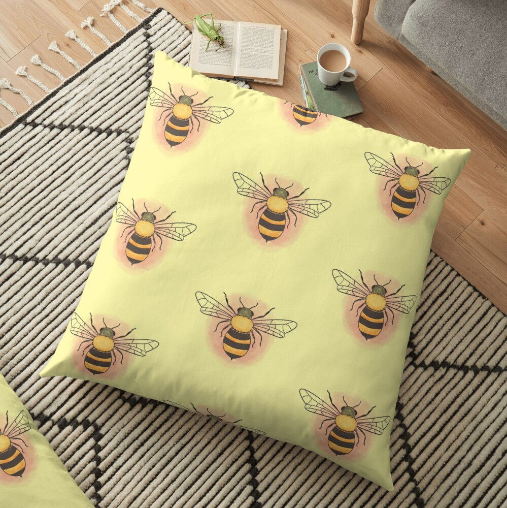 Honeybee Floor Pillow