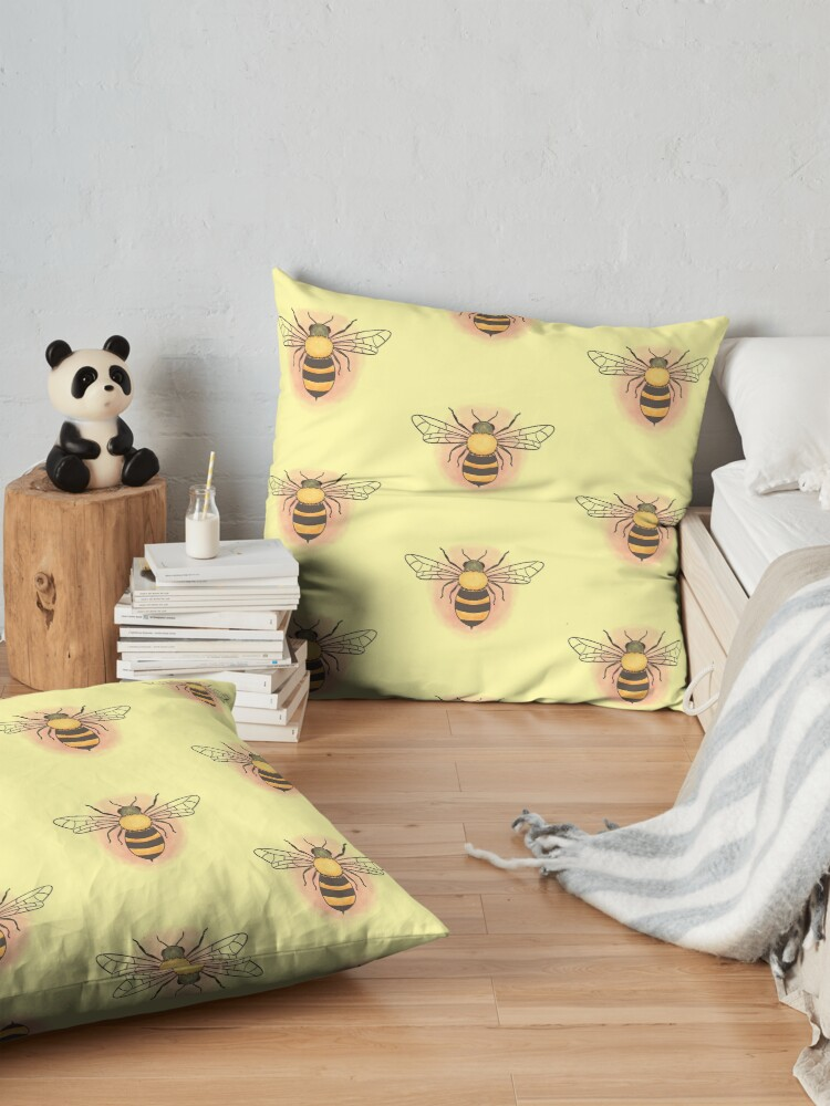 Alternate view of Honeybee Floor Pillow