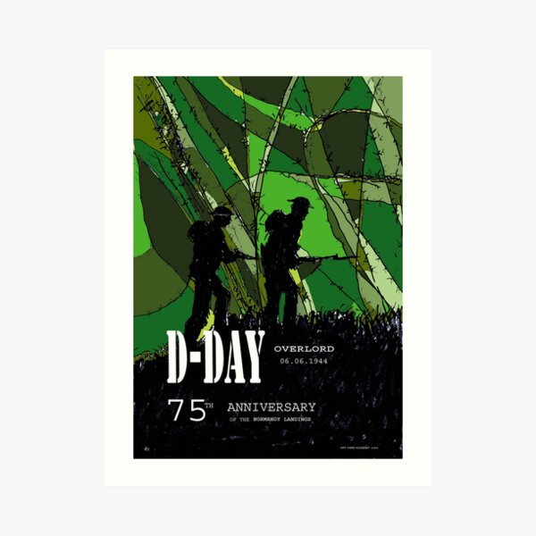 D-Day Anniversary of the Landing in Normandie - June 6, 1944 - Green version Art Print