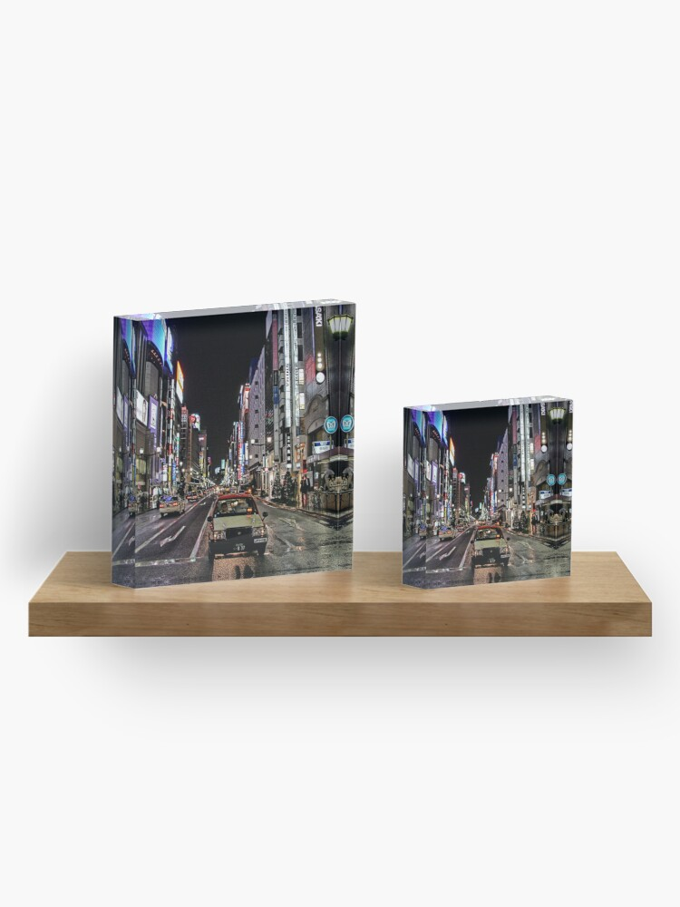 Alternate view of Lost in the City Acrylic Block
