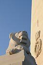Lion statue, Royal naval memorial, Plymouth, Devon, UK by David Carton