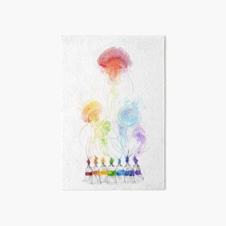 jellyfish splatters Art Board Print