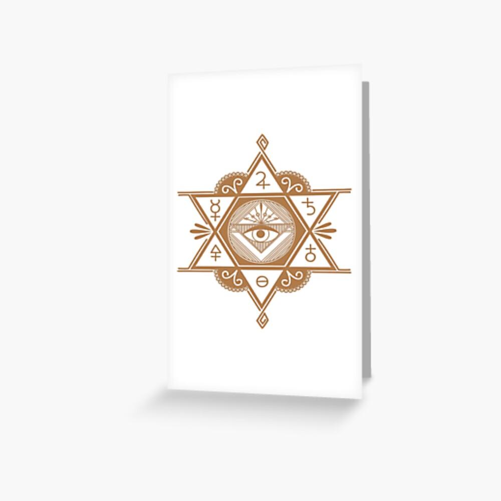 #Mystic #Symbols #Magic #Circle Occult symbols Esoteric | Etsy Greeting Card