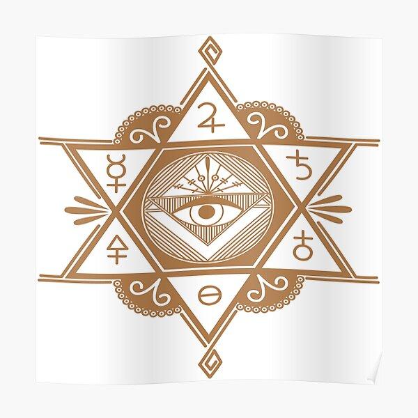#Mystic #Symbols #Magic #Circle Occult symbols Esoteric | Etsy Poster