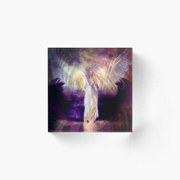 Rose Moxon and Helene Kippert - Solstice Angel Acrylic Block