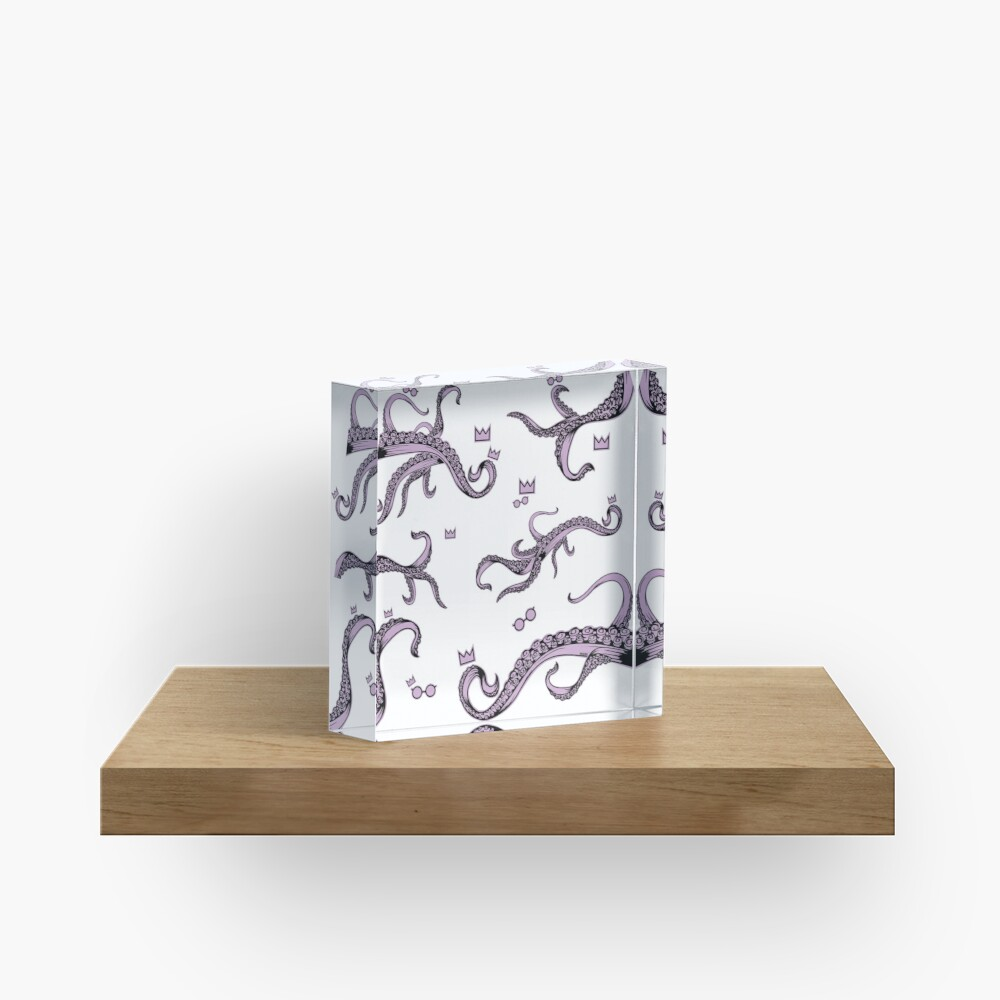 Tentacle Lovecraft Inspired Pattern Acrylic Block
