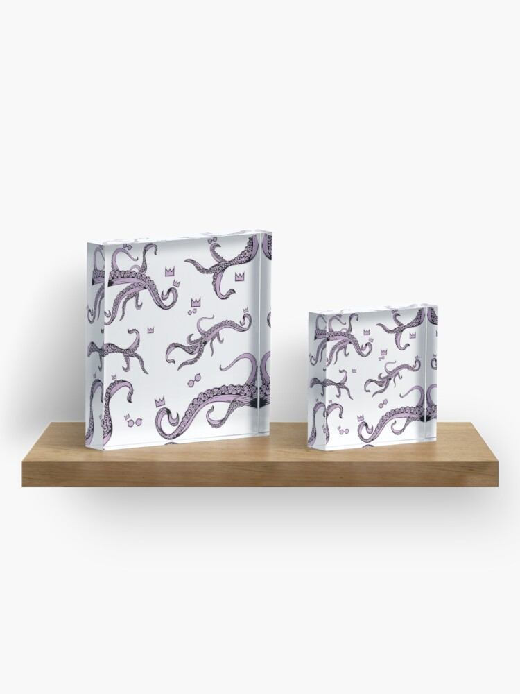 Alternate view of Tentacle Lovecraft Inspired Pattern Acrylic Block