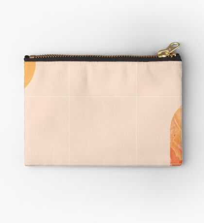 Mid-Century Tropical Orange Way #redbubble #tropical Zipper Pouch