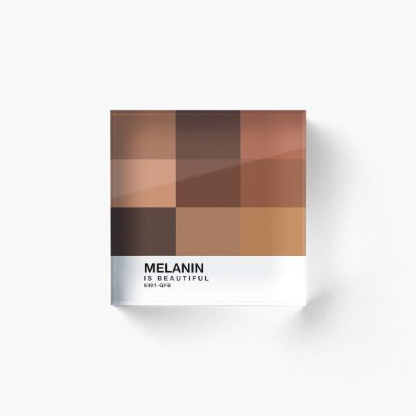 Melanin Pantone Acrylic Block